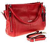 Женская сумка Eminsa 40225-37-5 кожаная красная, фото 3