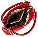 Женская сумка Eminsa 40225-37-5 кожаная красная, фото 5