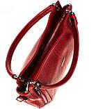 Женская сумка Eminsa 40225-37-5 кожаная красная, фото 6
