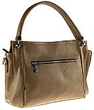 Женская сумка Eminsa 40225-37-17 кожаная бежевая, фото 2