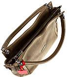 Женская сумка Eminsa 40225-37-17 кожаная бежевая, фото 6
