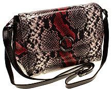 """Женская сумка кожаная BUTUN 3112-038-006 кросс-боди """"под рептилию"""" цветная"""