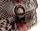 """Женская сумка кожаная BUTUN 3112-038-006 кросс-боди """"под рептилию"""" цветная, фото 3"""
