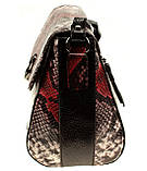"""Женская сумка кожаная BUTUN 3112-038-006 кросс-боди """"под рептилию"""" цветная, фото 4"""