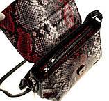 """Женская сумка кожаная BUTUN 3112-038-006 кросс-боди """"под рептилию"""" цветная, фото 6"""