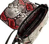 """Женская сумка кожаная BUTUN 3112-038-006 кросс-боди """"под рептилию"""" цветная, фото 7"""