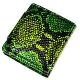 """Женский кошелек Butun 550-008-074 кожаный зеленый """"под рептилию"""", фото 2"""