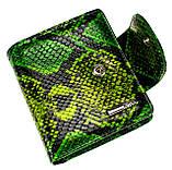 """Женский кошелек Butun 550-008-074 кожаный зеленый """"под рептилию"""", фото 3"""