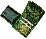 """Женский кошелек Butun 550-008-074 кожаный зеленый """"под рептилию"""", фото 5"""