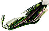 """Женский кошелек Butun 550-008-074 кожаный зеленый """"под рептилию"""", фото 6"""