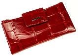 Большой женский кошелек BUTUN 507-007-074 кожаный красный, фото 2