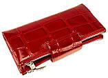 Большой женский кошелек BUTUN 507-007-074 кожаный красный, фото 3