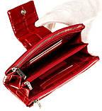 Большой женский кошелек BUTUN 507-007-074 кожаный красный, фото 4