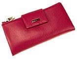 Большой женский кошелек BUTUN 507-004-018 кожаный розовый, фото 2