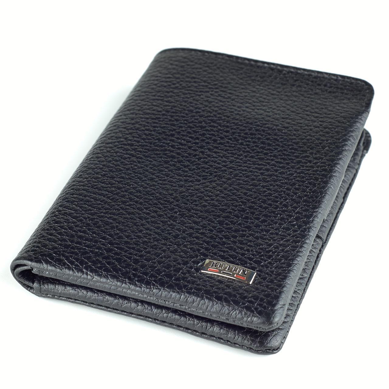 Мужской кошелек Butun 237-004-001 кожаный черный