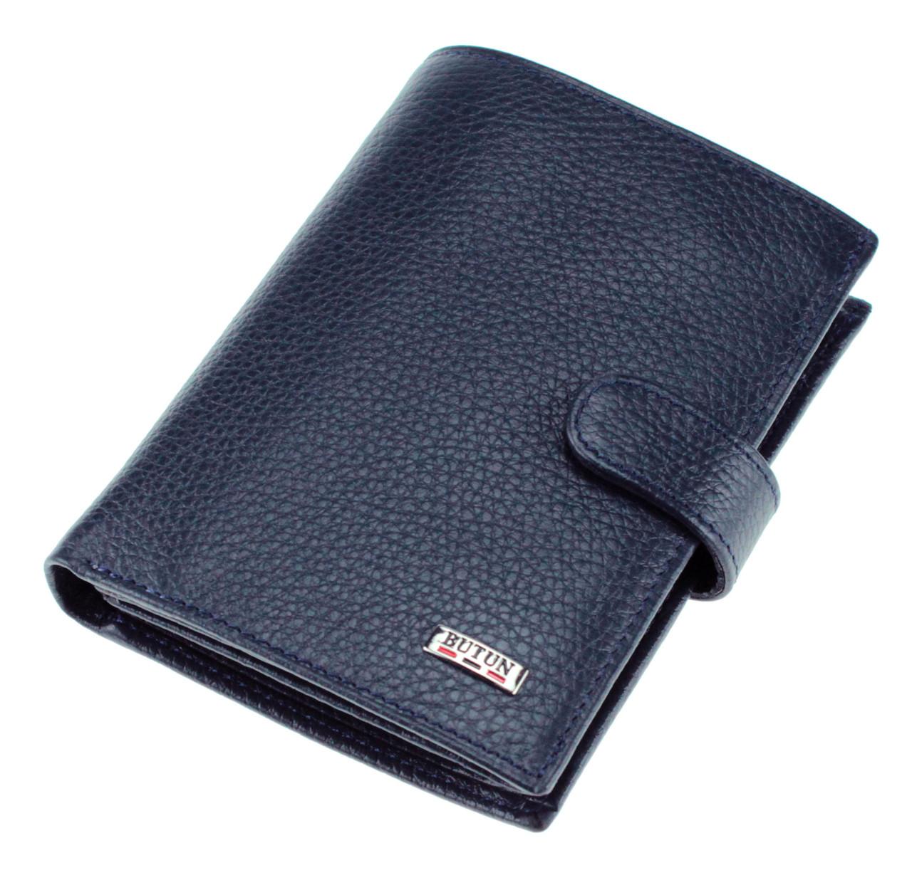 Мужской кошелек BUTUN 186-004-034 кожаный синий