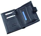 Мужской кошелек BUTUN 186-004-034 кожаный синий, фото 3