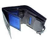 Мужской кошелек BUTUN 186-004-034 кожаный синий, фото 5