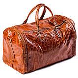 Сумка дорожная саквояж Eminsa 6517 4-2 кожаный коричневый, фото 2