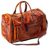 Сумка дорожная саквояж Eminsa 6517 4-2 кожаный коричневый, фото 4
