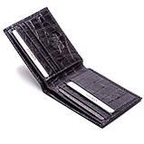 Мужской кошелек Karya 0941-53 кожаный черный, фото 3