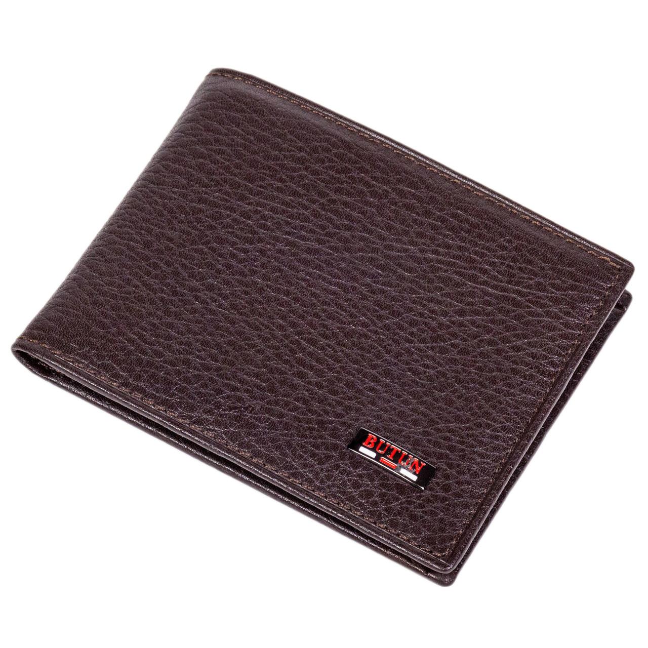 Мужской кошелек на магнитах BUTUN 243-004-004 кожаный коричневый