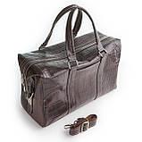 Сумка дорожная саквояж KARYA 8500-57 кожаный темно-коричневый, фото 2
