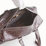 Сумка дорожная саквояж KARYA 8500-57 кожаный темно-коричневый, фото 4