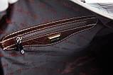 Сумка дорожная саквояж KARYA 8500-57 кожаный темно-коричневый, фото 5