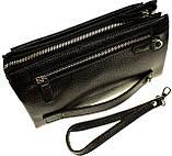 Мужской клатч кожаный черный Eminsa 5002-37-1, фото 2