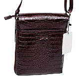 Мужская сумка Karya 0721-57 через плечо кожаная коричневая, фото 2