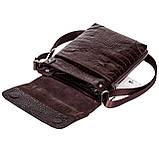Мужская сумка Karya 0721-57 через плечо кожаная коричневая, фото 4