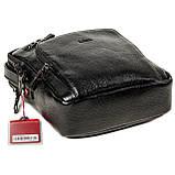 Мужская сумка барсетка Butun 415-004-001 черная из натуральной кожи, фото 5