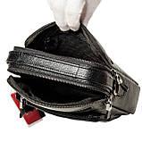 Мужская сумка барсетка Butun 415-004-001 черная из натуральной кожи, фото 6