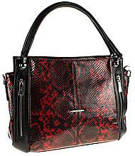 """Женская сумка Eminsa 40225-95-5 кожаная """"под рептилию"""""""
