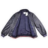 Мужская кожаная куртка бомбер Pepe Jeans Auge темно-синий, фото 7