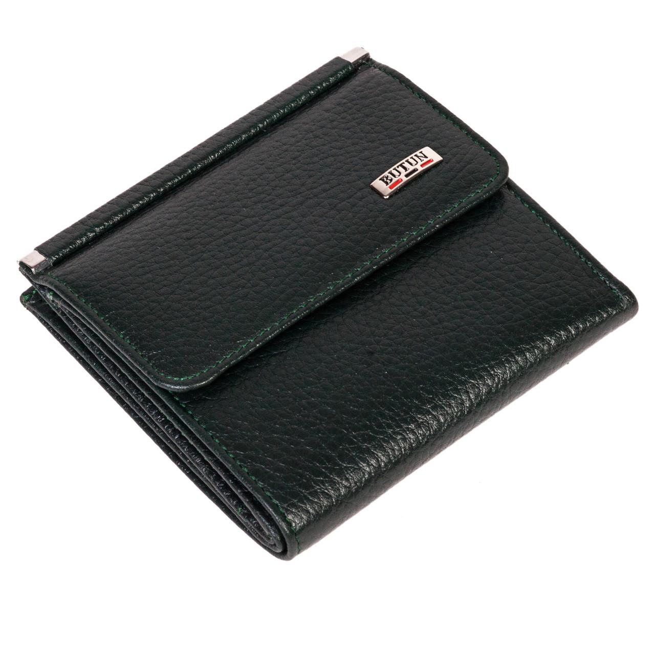 Женский кошелек BUTUN 590-004-009 кожаный темно-зеленый