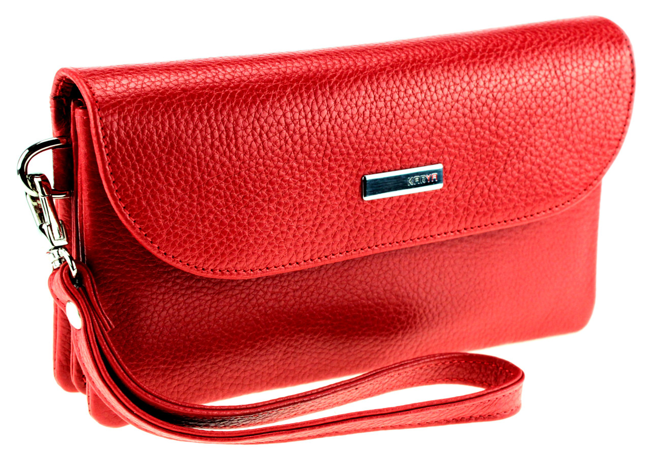 Женский клатч Karya 1121-46 кожаный красный