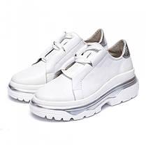Кроссовки массивные белые 931-01, фото 2