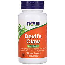 """Дьявольский коготь NOW Foods """"Devil's Claw"""" для здоровья суставов (100 капсул)"""