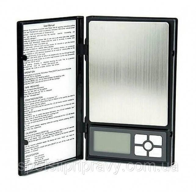 Ювелирные аптечные весы Pocket Professional 6296/1108-2 в виде блокнота до 2кг (шаг 0,1г)