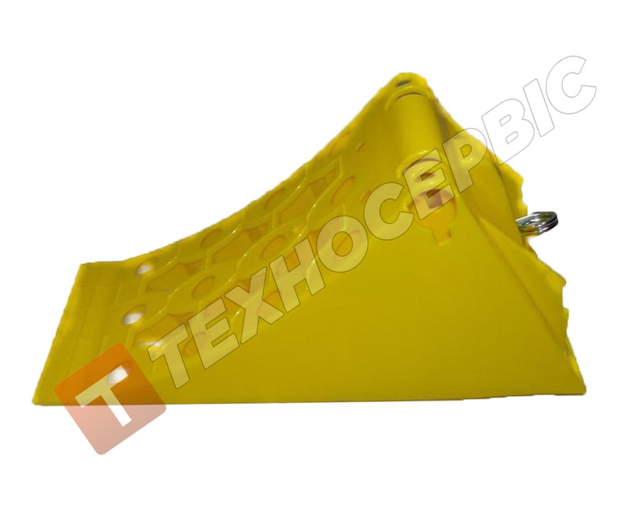 Упор противооткатный вантажний пластик 415х160х190(мм),Туреччина