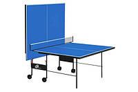 Теннисный стол для помещения GSI-Sport Athletiс Strong (синий) Gk-3  + Набор для настольного тенниса (2р+3м)