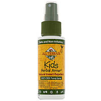 Натуральный спрей, репеллент от насекомых, комаров, All Terrain, Kids Herbal Armor, 60 мл