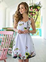 Платье-сарафан белое короткое вечернее  44 46 48 50