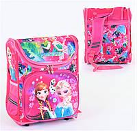 Школьный ортопедический рюкзак для девочки розовый , ранец портфель детский с принтом Холодное сердце Frozen