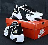 Мужские кроссовки Nike Zoom 2k в стиле Найк Зум ЧЕРНЫЕ БЕЛЫЕ (Реплика ААА+), фото 3