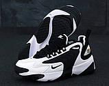 Мужские кроссовки Nike Zoom 2k в стиле Найк Зум ЧЕРНЫЕ БЕЛЫЕ (Реплика ААА+), фото 4
