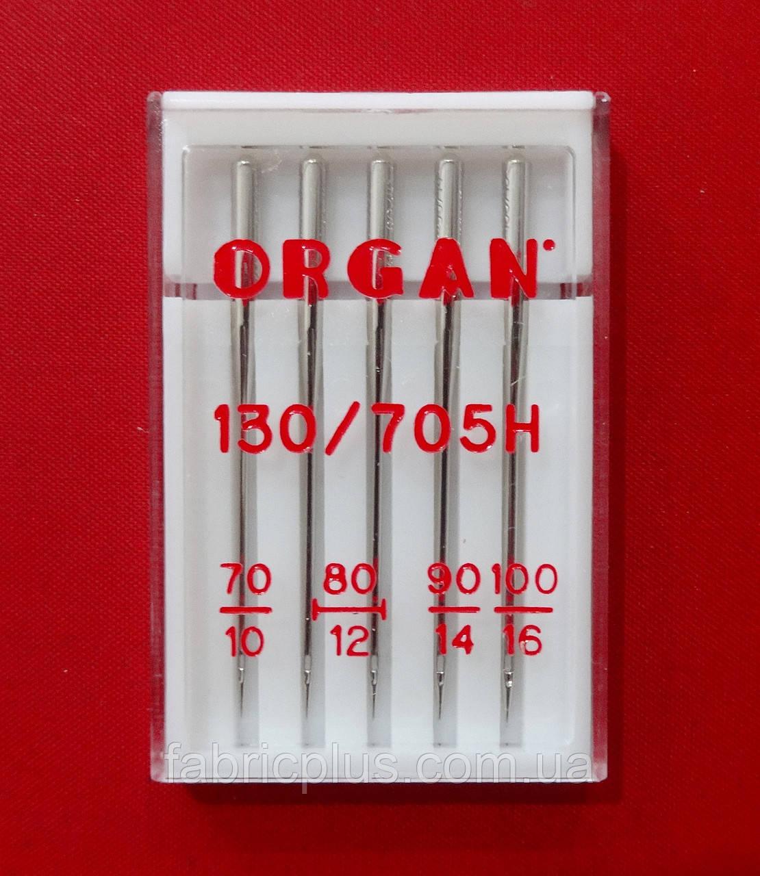 Иглы для бытовых машин Organ № 70-80-90-100 (5 шт) Япония