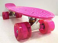 """Пенниборд Pink 22"""" Extreme SC20423. Світяться колеса!, фото 1"""
